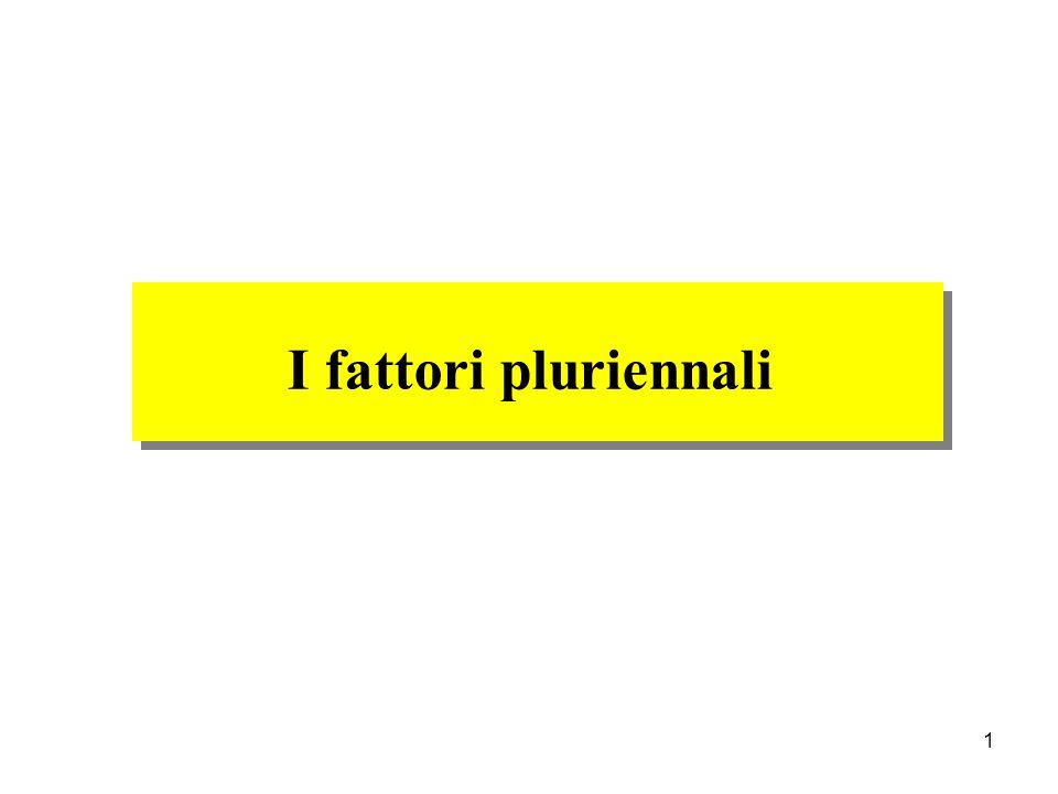 I fattori pluriennali