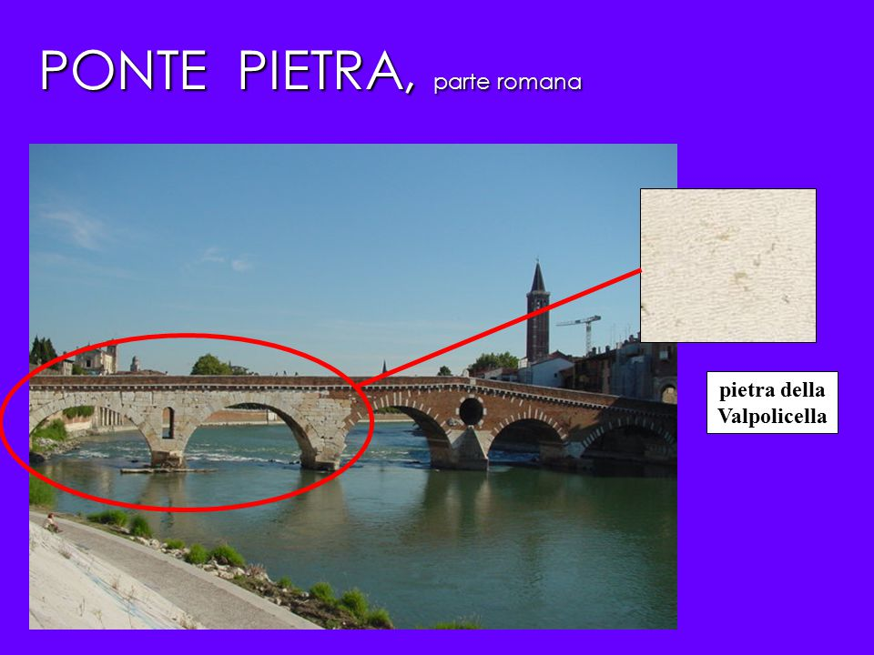 PONTE PIETRA, parte romana