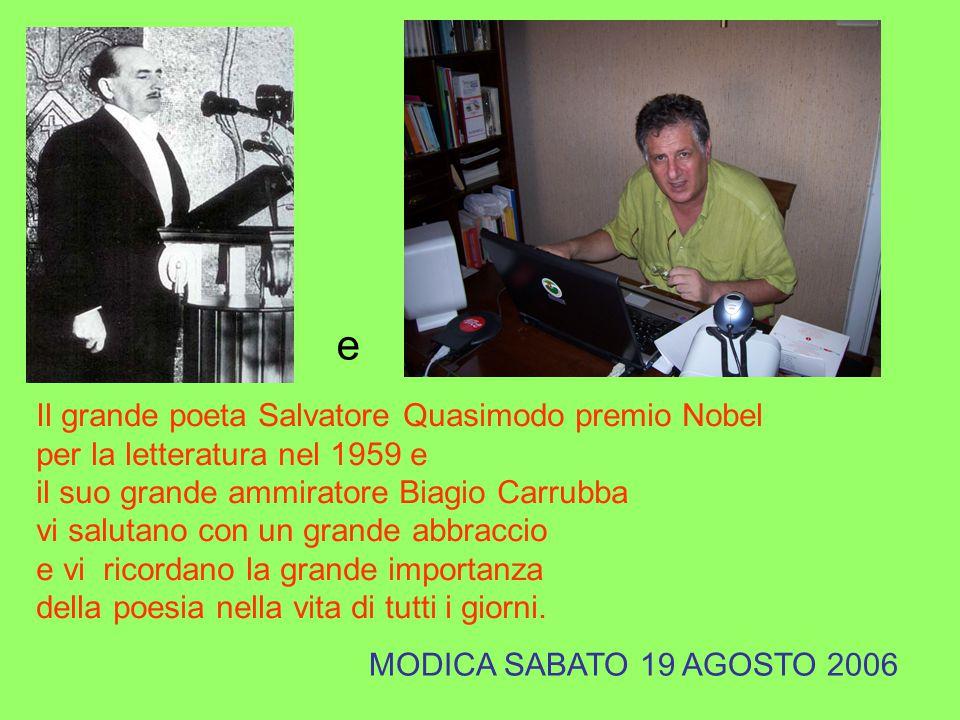 e Il grande poeta Salvatore Quasimodo premio Nobel