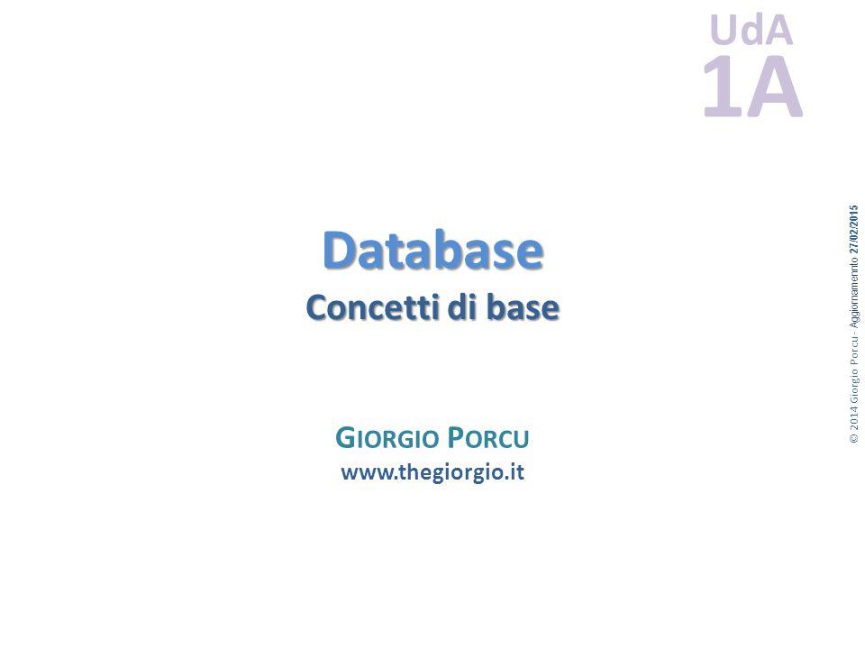 Database Concetti di base
