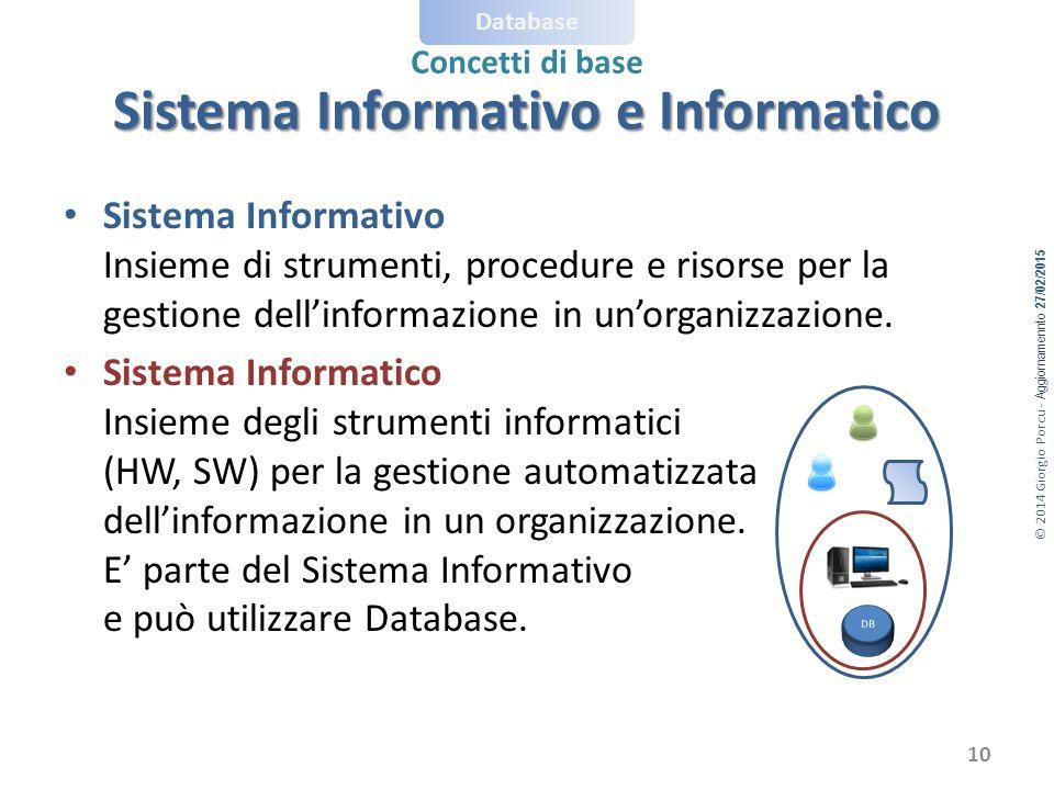 Sistema Informativo e Informatico
