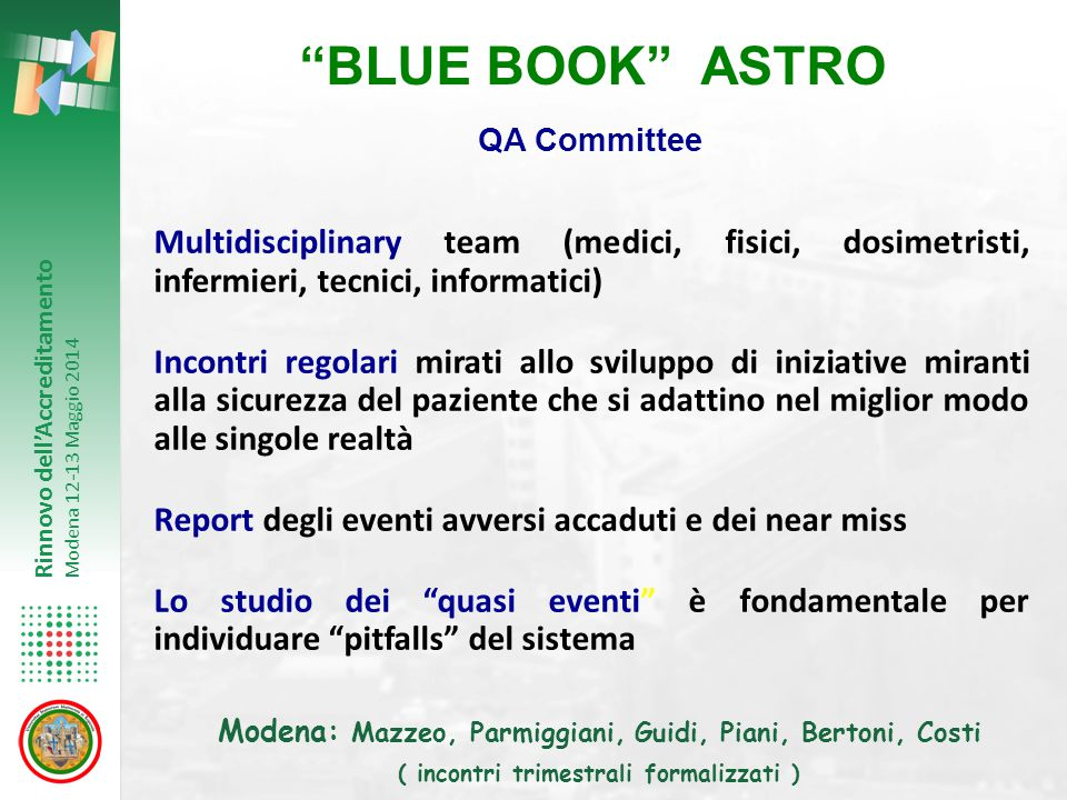 BLUE BOOK ASTRO QA Committee.