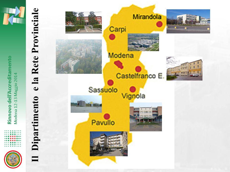 Il Dipartimento e la Rete Provinciale