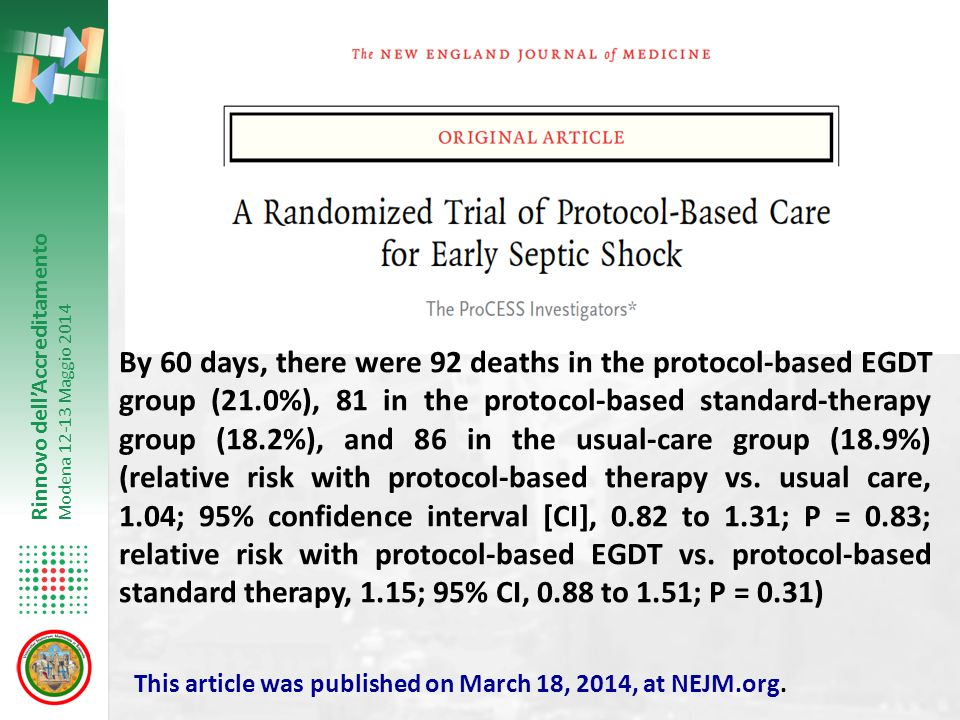 By 60 days, there were 92 deaths in the protocol-based EGDT group (21