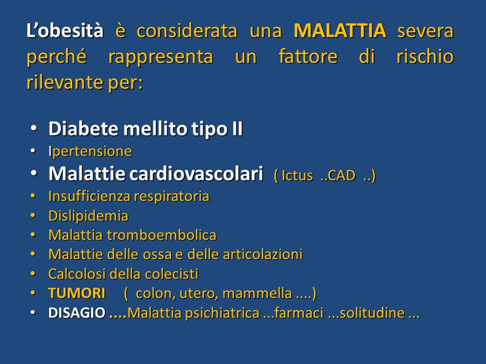 Diabete mellito tipo II Malattie cardiovascolari ( Ictus ..CAD ..)