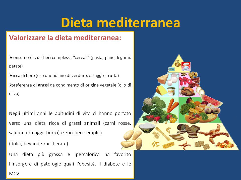 Dieta mediterranea Valorizzare la dieta mediterranea: