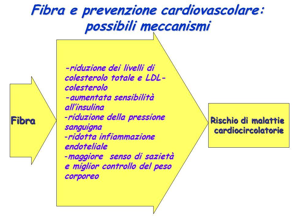 Fibra e prevenzione cardiovascolare: