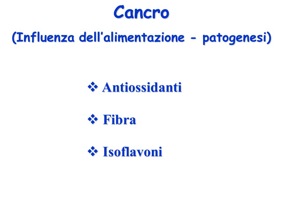 (Influenza dell'alimentazione - patogenesi)