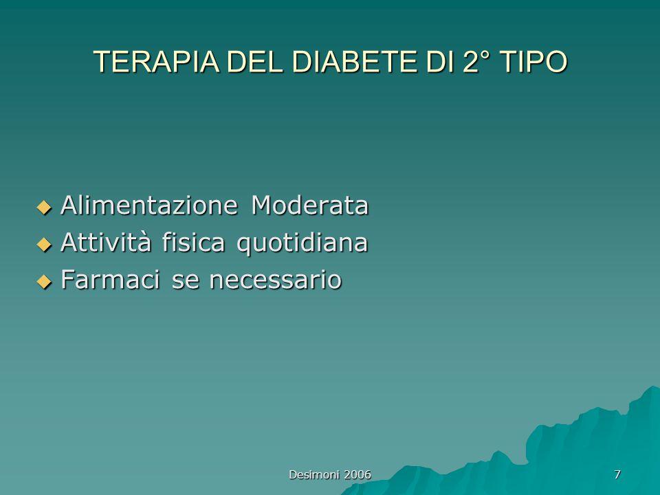 TERAPIA DEL DIABETE DI 2° TIPO
