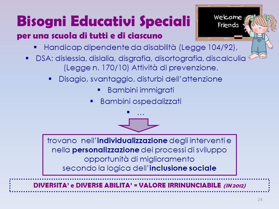 Bisogni Educativi Speciali per una scuola di tutti e di ciascuno