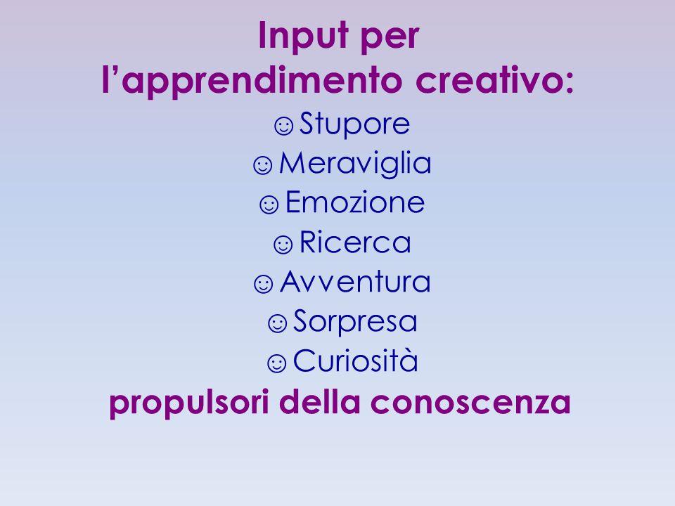Input per l'apprendimento creativo: