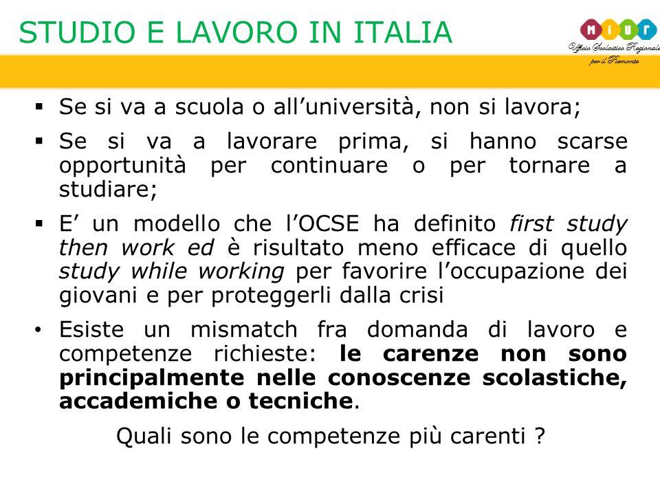 STUDIO E LAVORO IN ITALIA