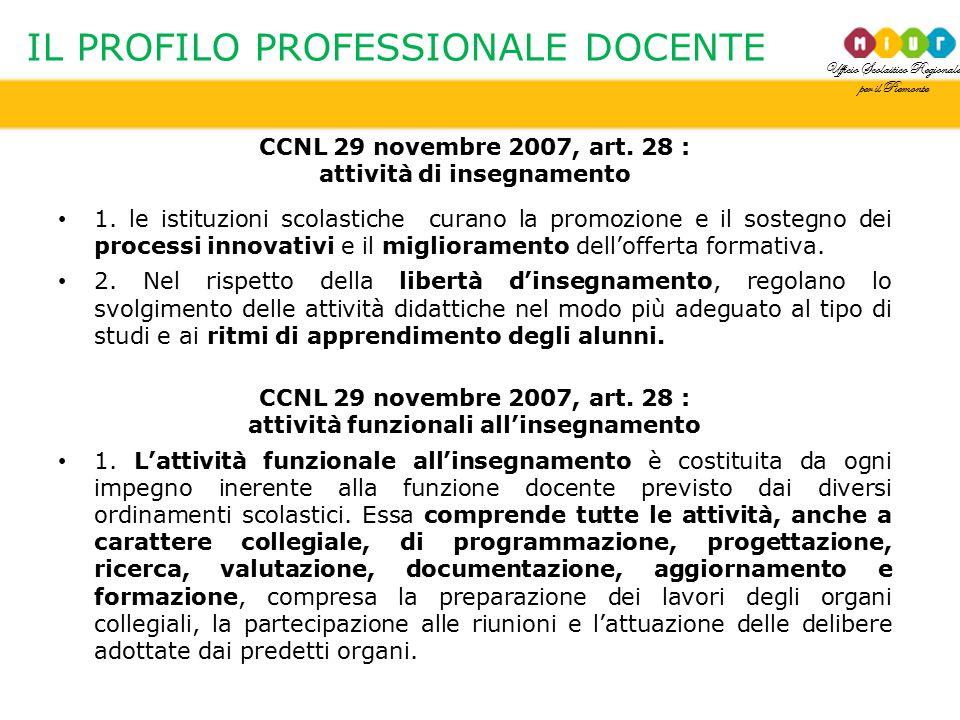 IL PROFILO PROFESSIONALE DOCENTE