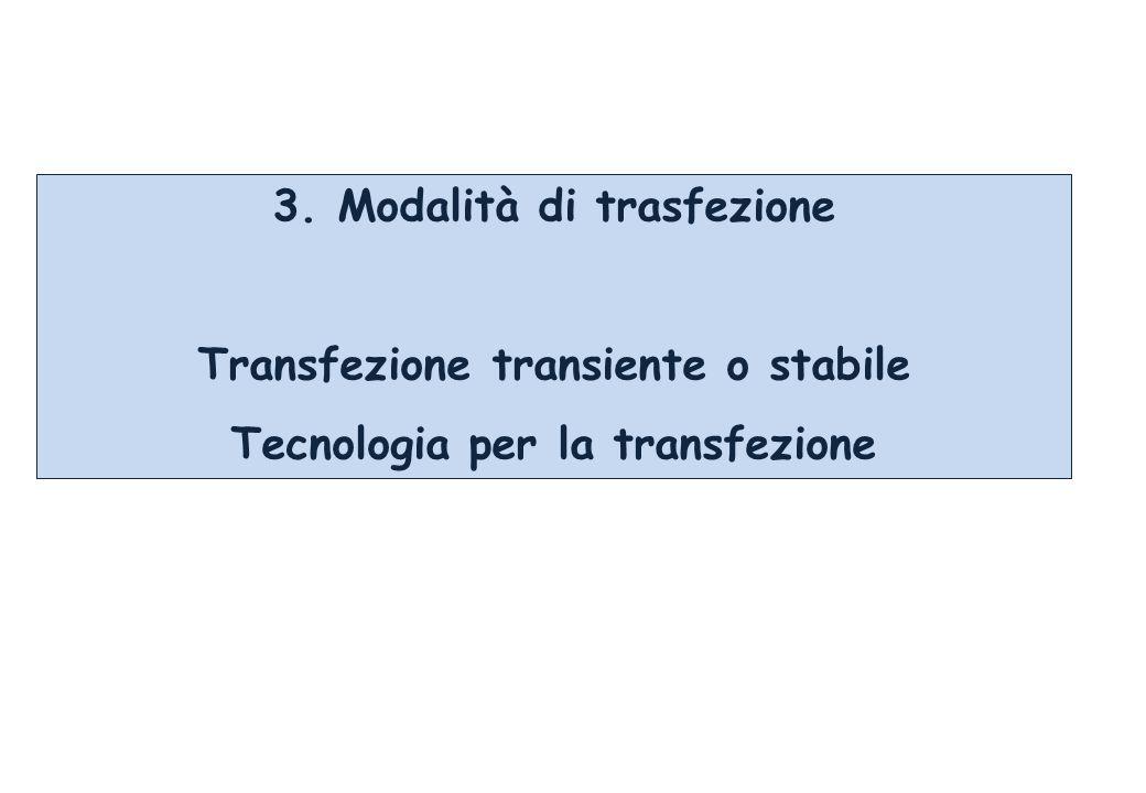 3. Modalità di trasfezione