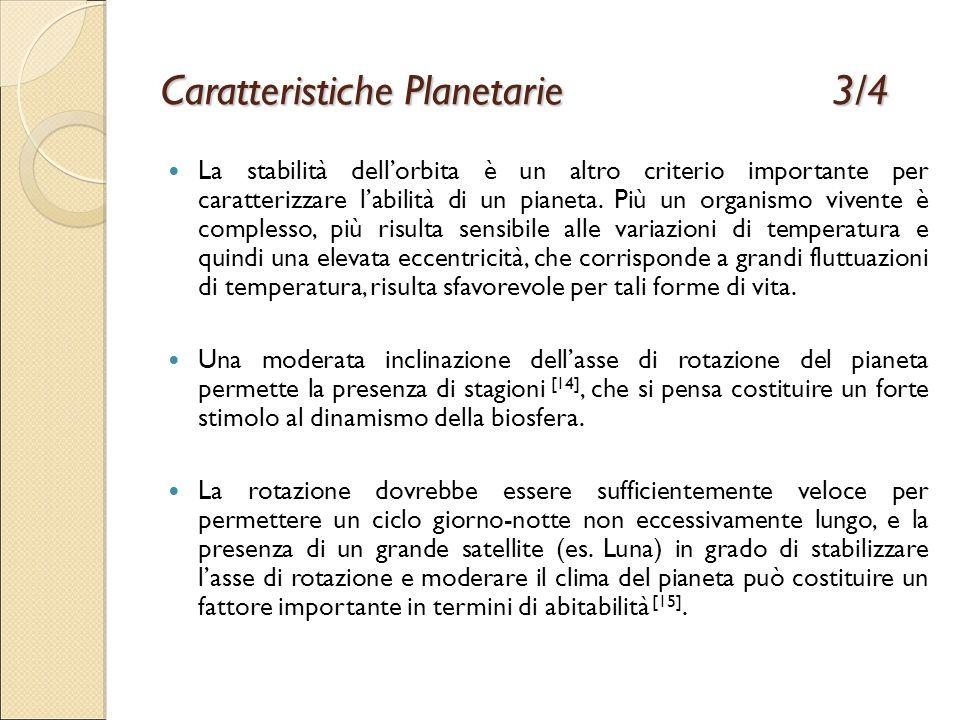 Caratteristiche Planetarie 3/4