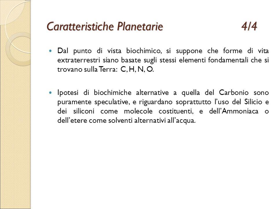 Caratteristiche Planetarie 4/4