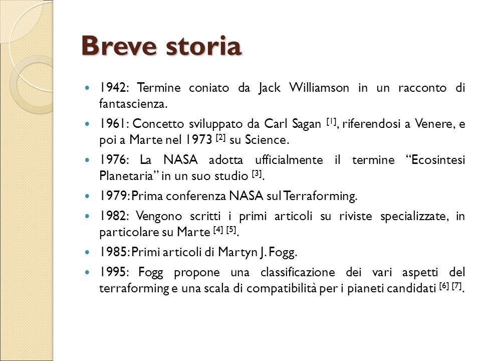 Breve storia 1942: Termine coniato da Jack Williamson in un racconto di fantascienza.