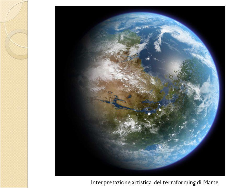 Interpretazione artistica del terraforming di Marte