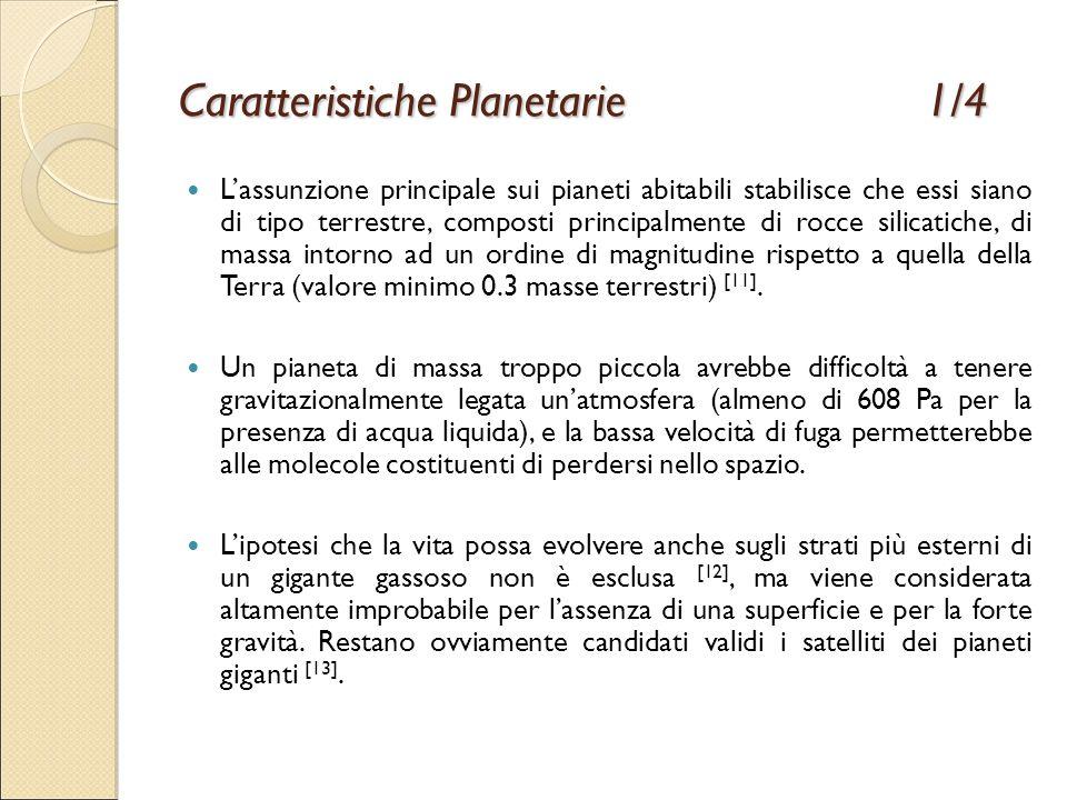 Caratteristiche Planetarie 1/4