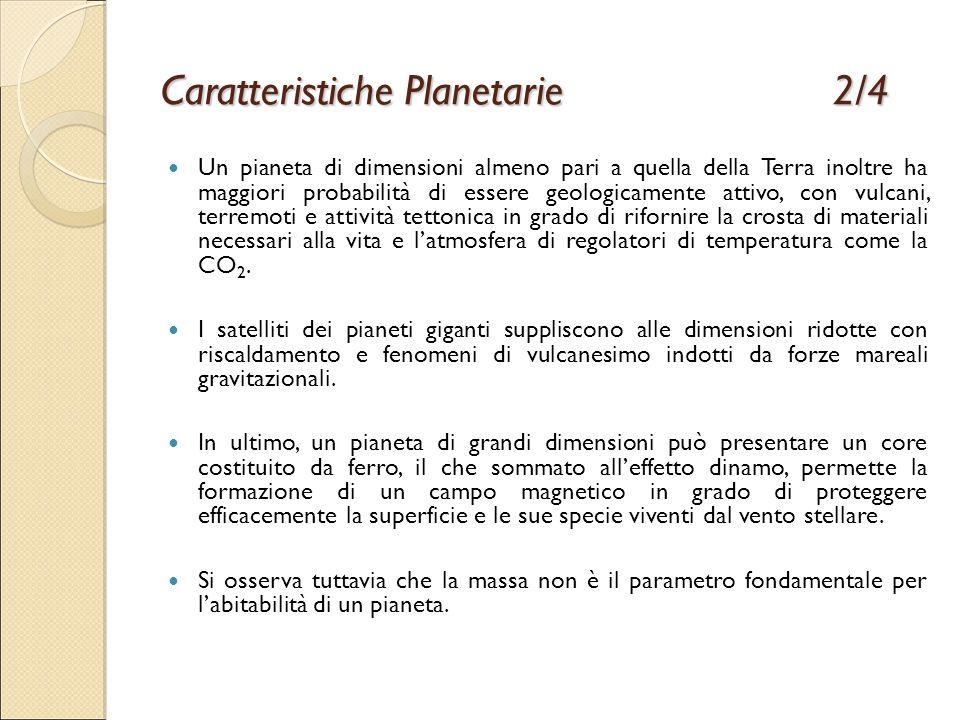 Caratteristiche Planetarie 2/4