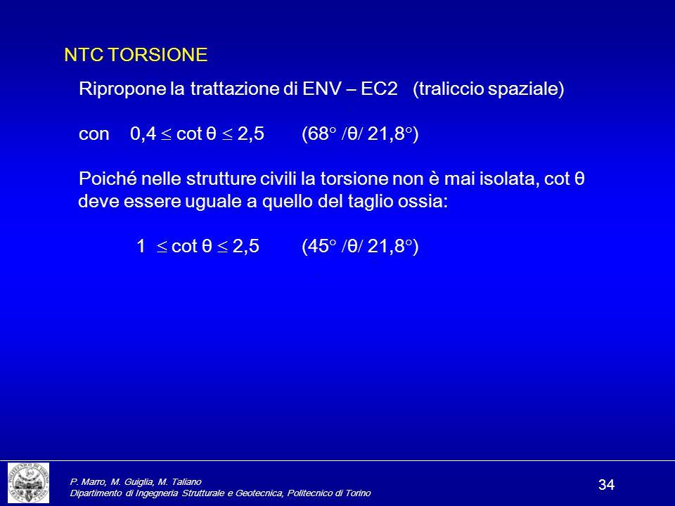 Ripropone la trattazione di ENV – EC2 (traliccio spaziale)
