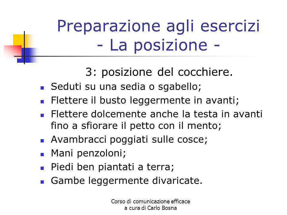 Preparazione agli esercizi - La posizione -