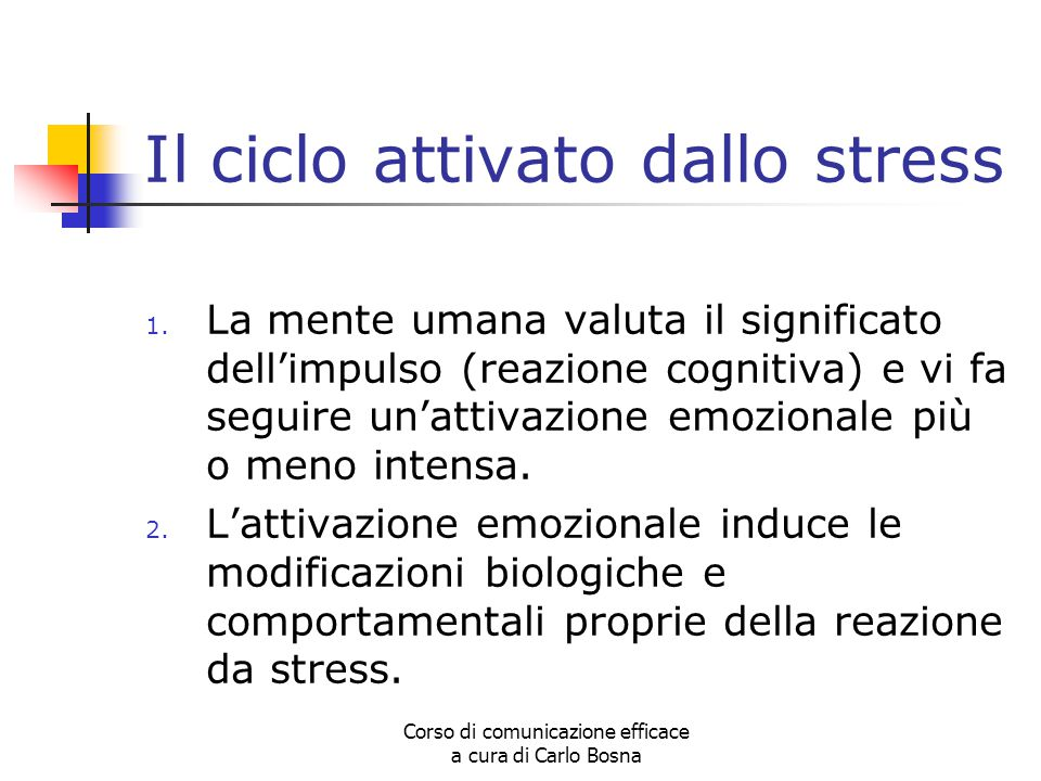 Il ciclo attivato dallo stress