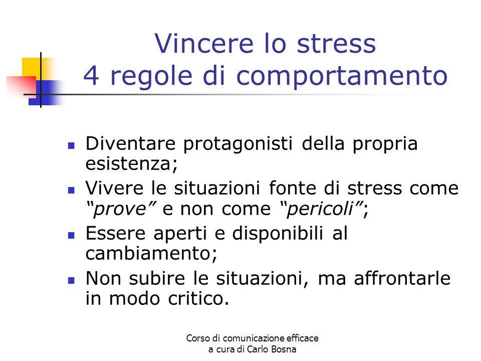 Vincere lo stress 4 regole di comportamento