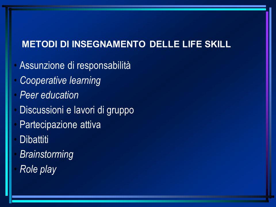 METODI DI INSEGNAMENTO DELLE LIFE SKILL
