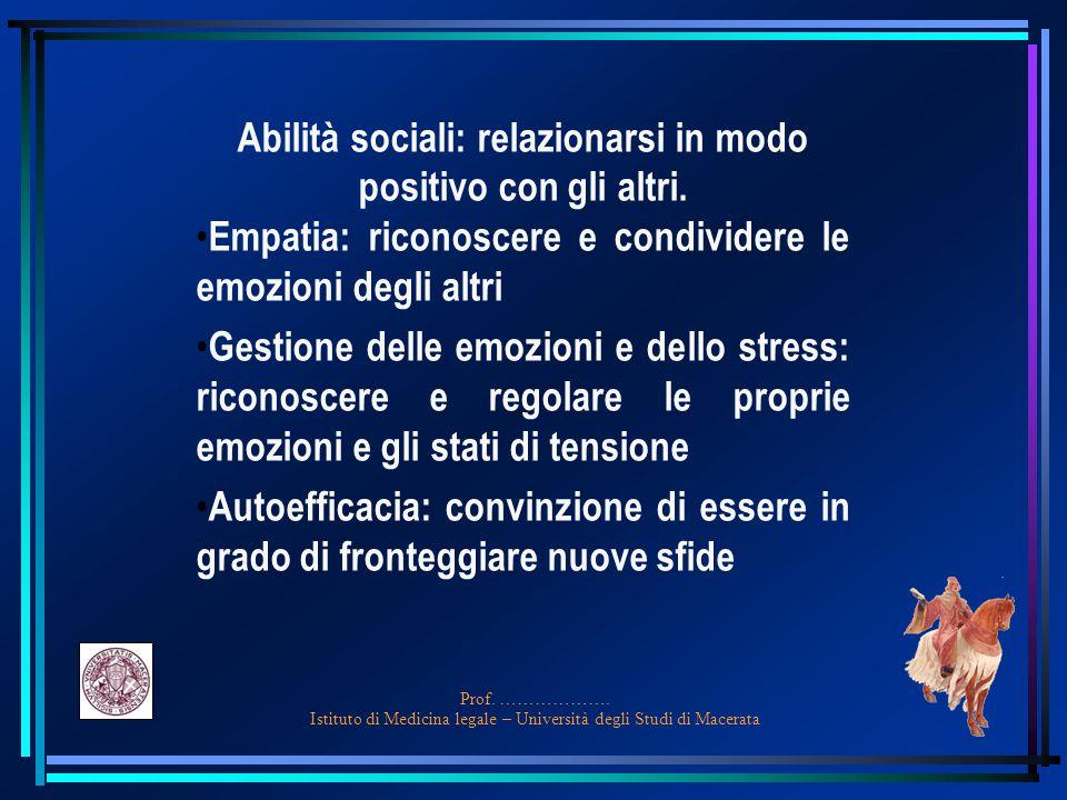 Abilità sociali: relazionarsi in modo positivo con gli altri.