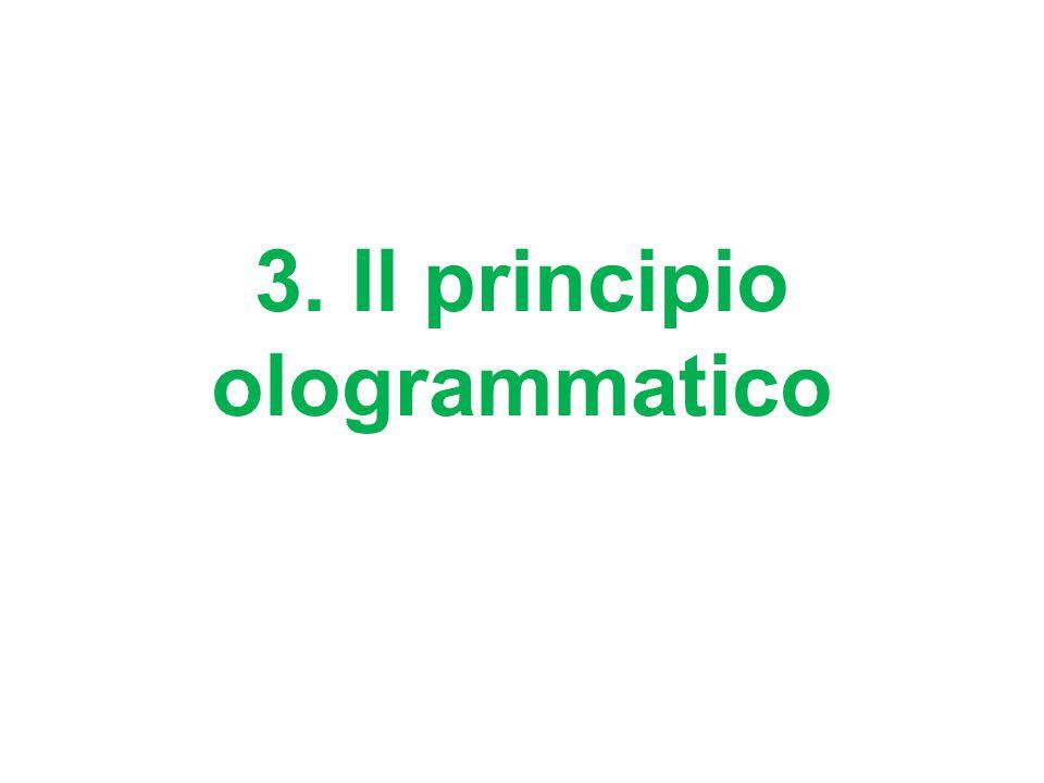 3. Il principio ologrammatico