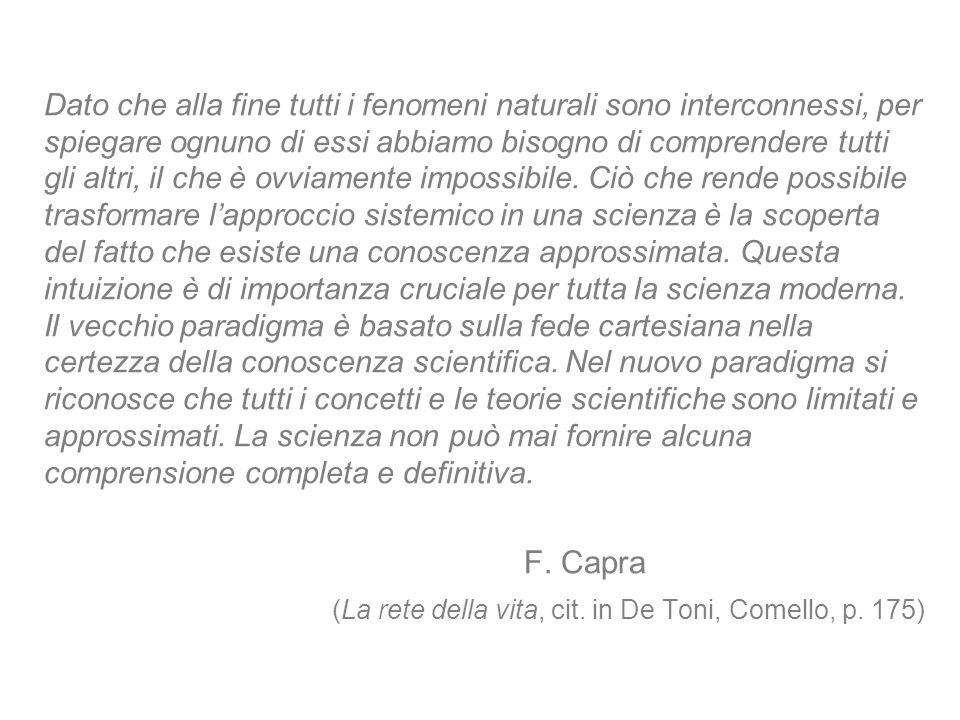 (La rete della vita, cit. in De Toni, Comello, p. 175)