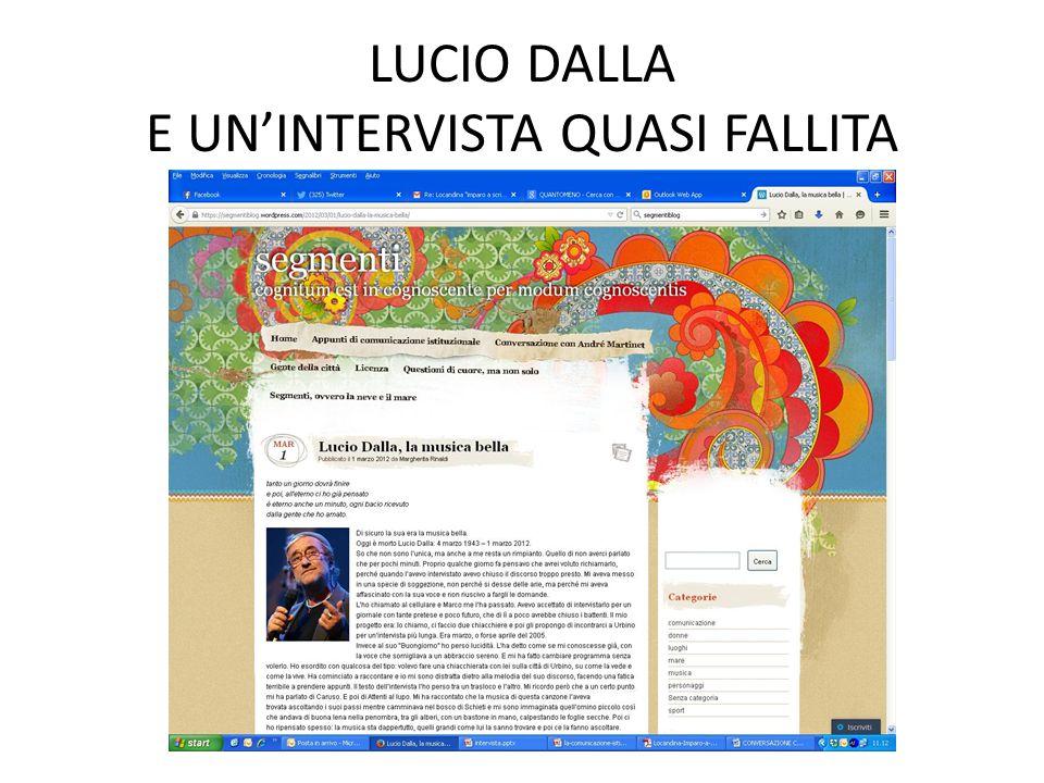 LUCIO DALLA E UN'INTERVISTA QUASI FALLITA