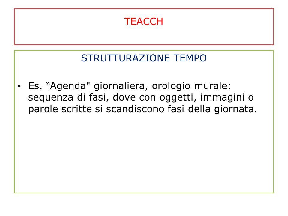 TEACCH STRUTTURAZIONE TEMPO.