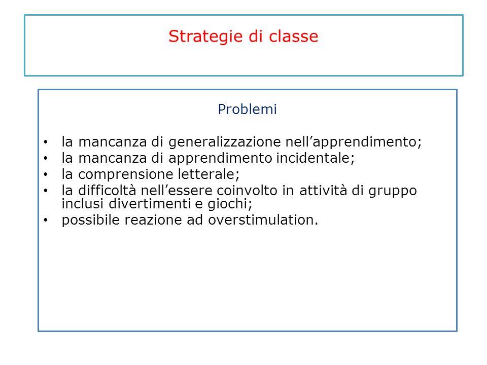 Strategie di classe Problemi