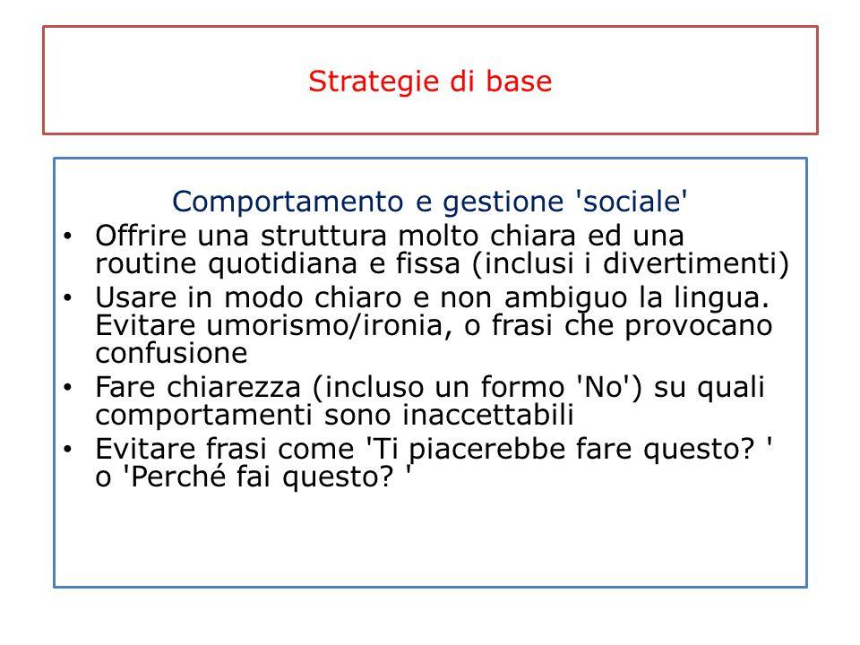 Comportamento e gestione sociale