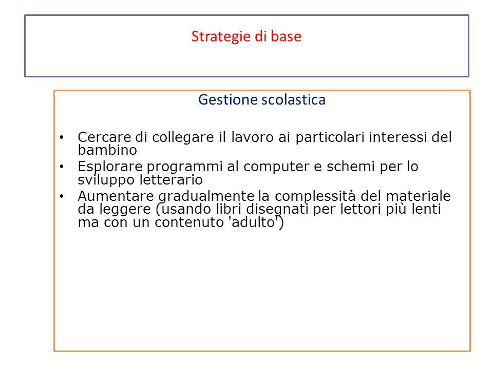 Strategie di base Gestione scolastica