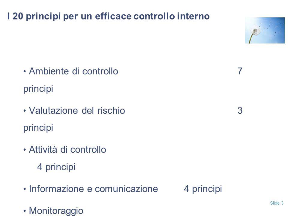 I 20 principi per un efficace controllo interno