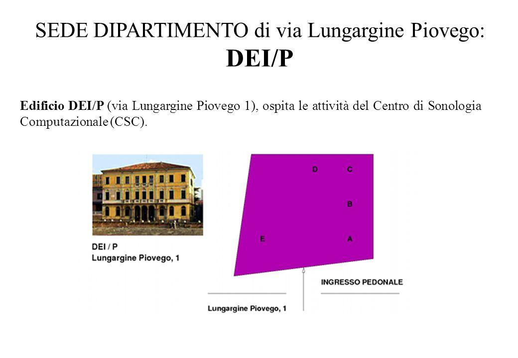 SEDE DIPARTIMENTO di via Lungargine Piovego: