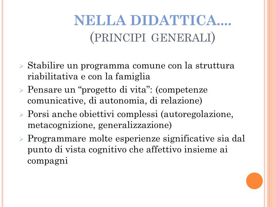NELLA DIDATTICA.... (principi generali)