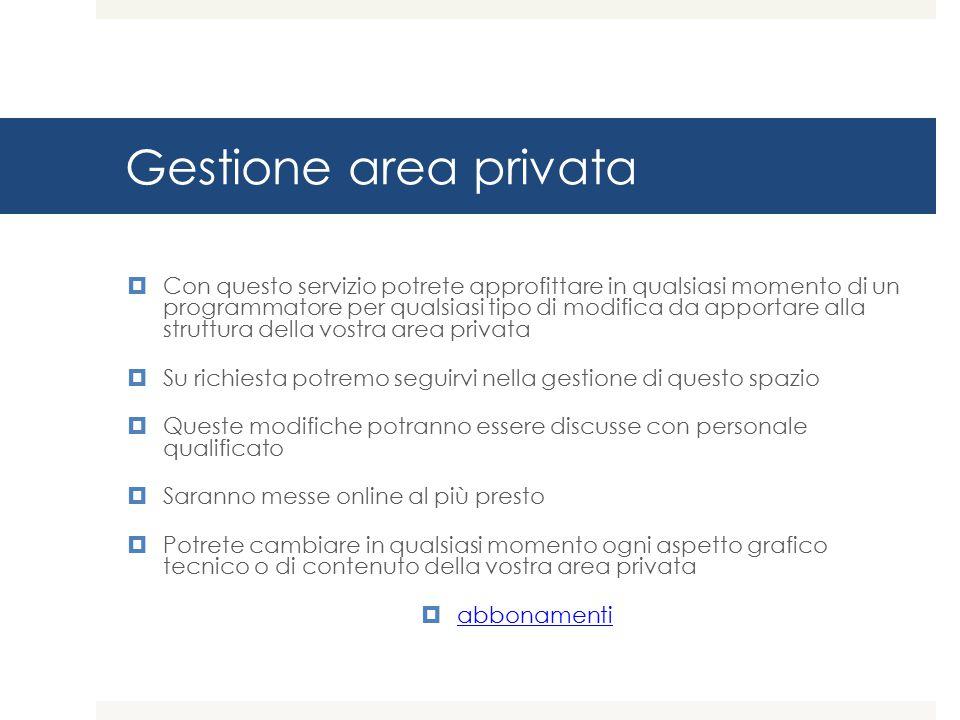 Gestione area privata