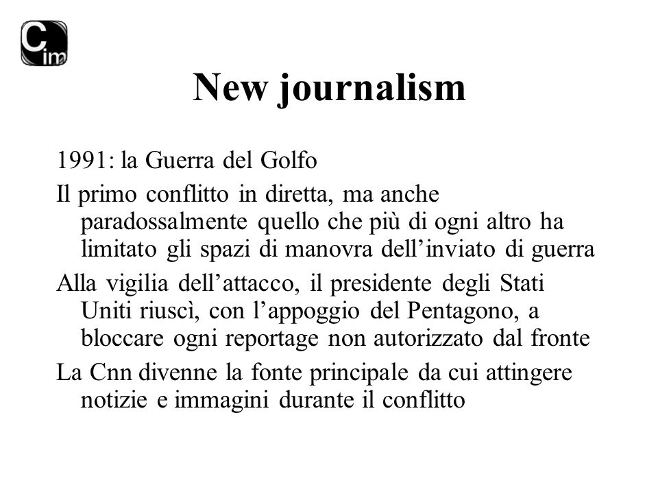New journalism 1991: la Guerra del Golfo