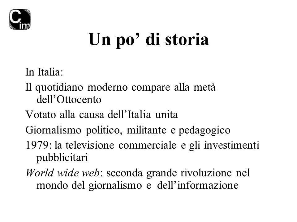 Un po' di storia In Italia: