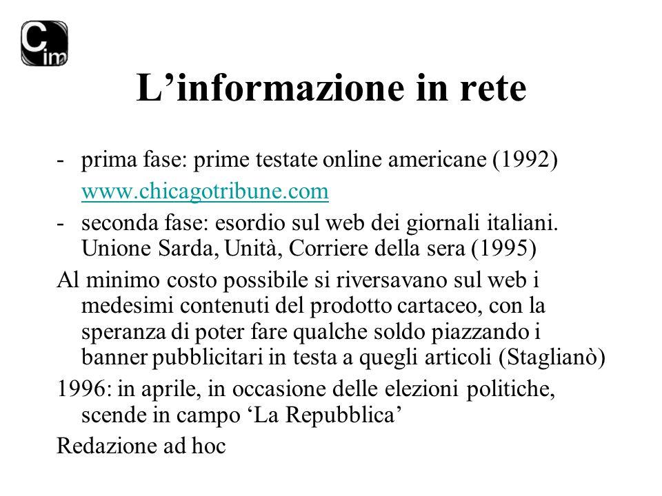 L'informazione in rete