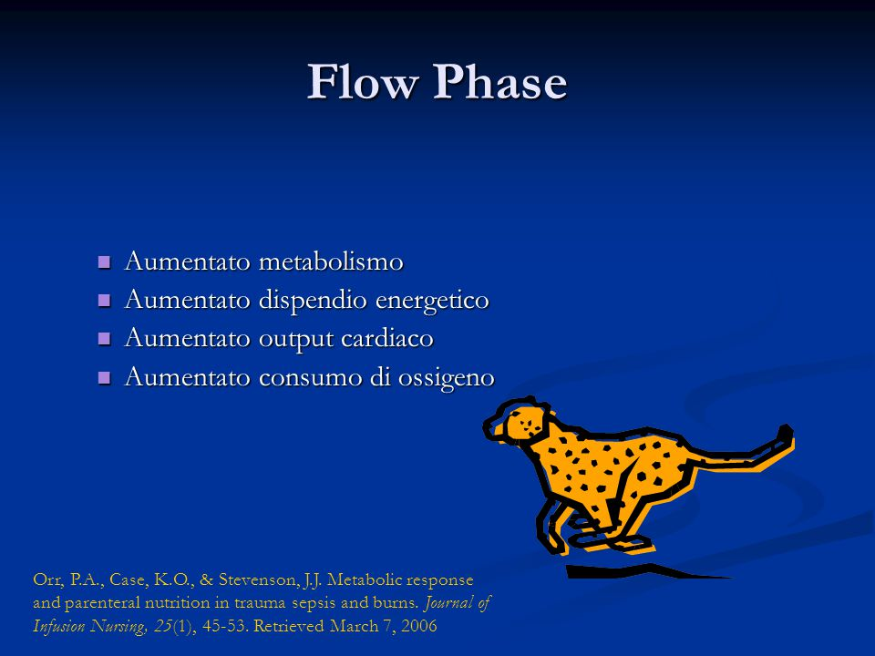 Flow Phase Aumentato metabolismo Aumentato dispendio energetico