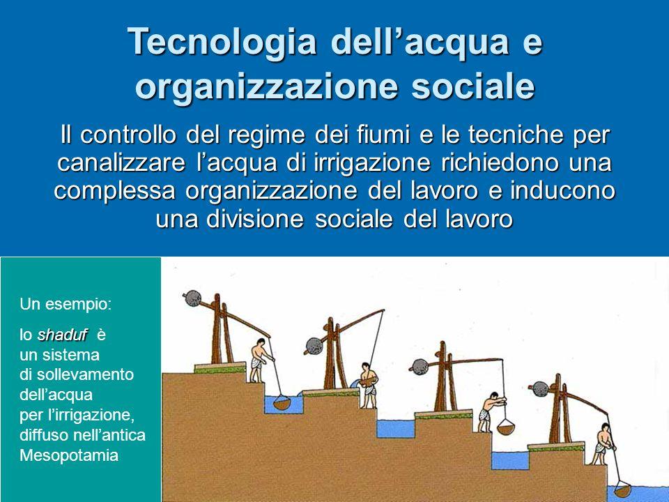 Tecnologia dell'acqua e organizzazione sociale