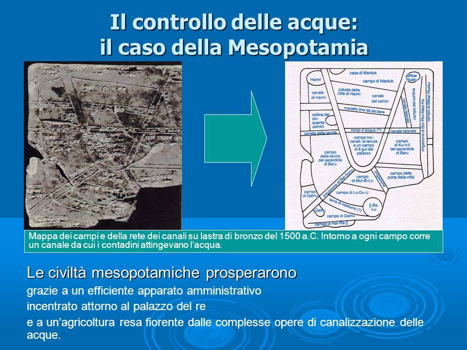 Il controllo delle acque: il caso della Mesopotamia
