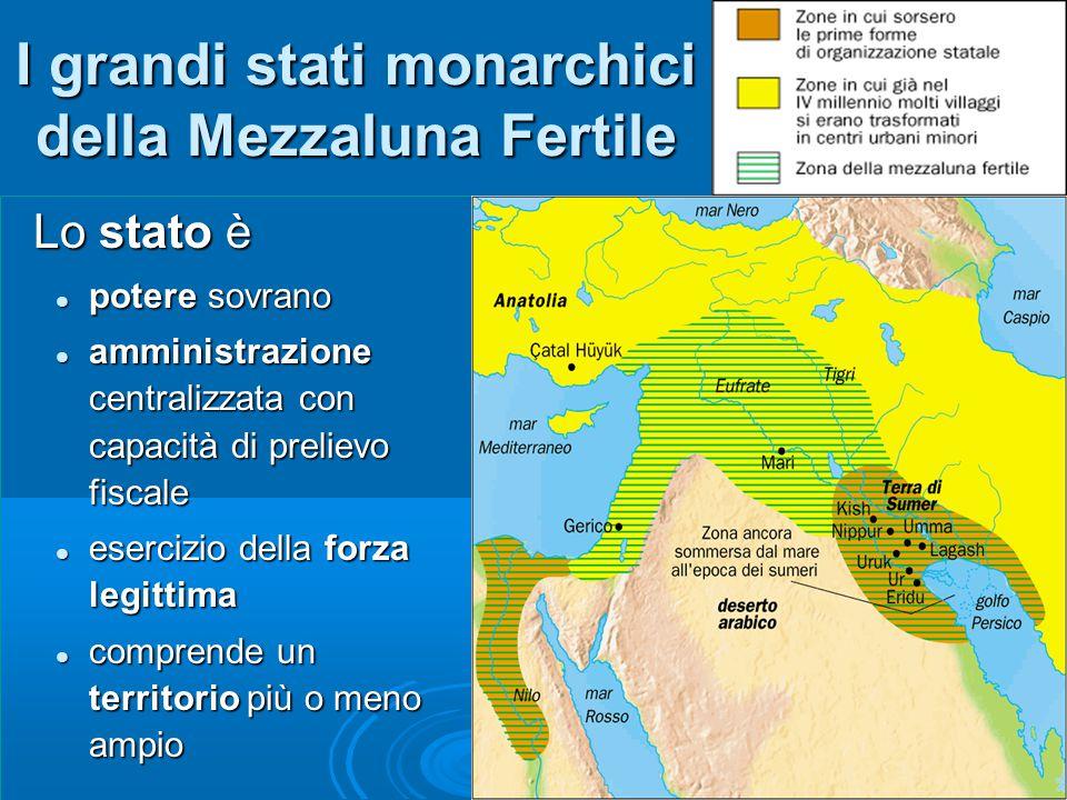 I grandi stati monarchici della Mezzaluna Fertile