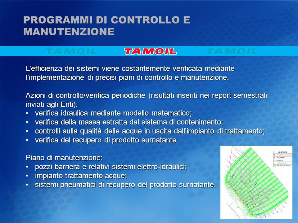 PROGRAMMI DI CONTROLLO E MANUTENZIONE