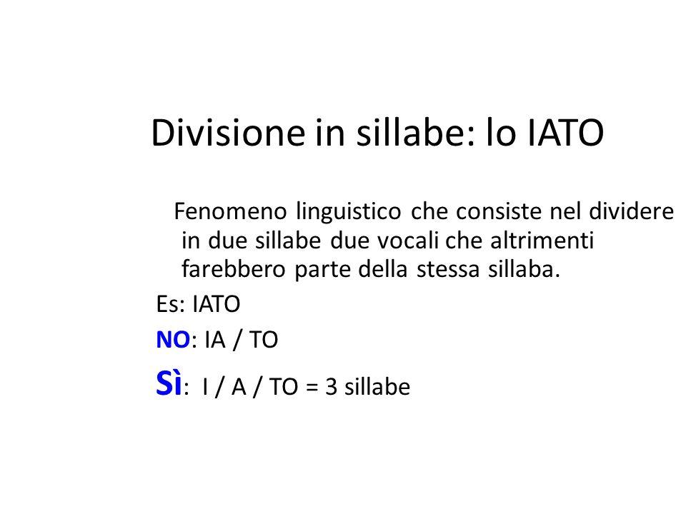 Divisione in sillabe: lo IATO